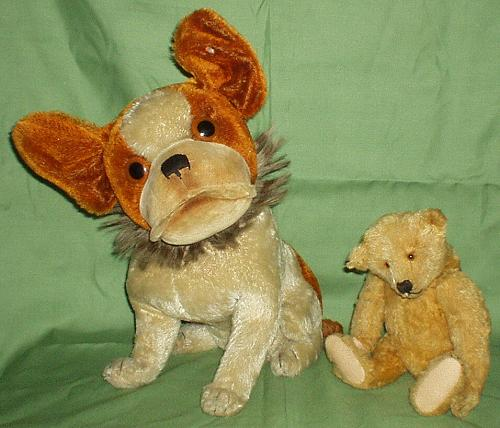 Steiff teddybear and bully